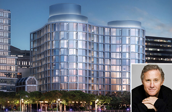 Rendering of 160 Leroy and Ian Schrager (inset)