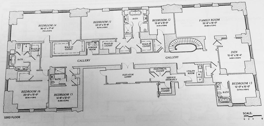 220 central park south most expensive condo nyc for Quadplex plans