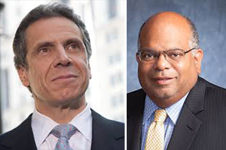 From left: Gov. Andrew Cuomo and John Banks III