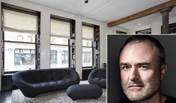 Nick Denton's 76 Crosby Street apartment (inset: Denton)