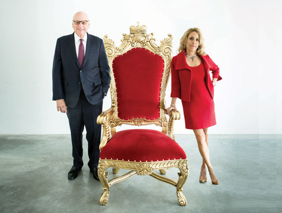 Douglas Elliman Chair Howard Lorber and Corcoran Group CEO Pam Liebman (Photo by Studio Scrivo)