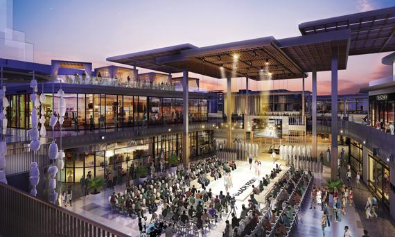 Westfield Century City rendering in Los Angeles