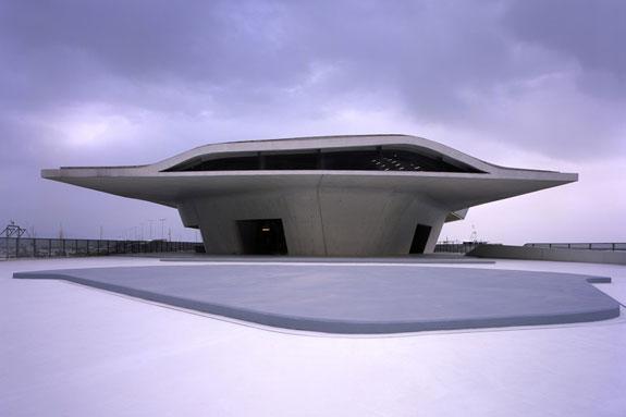 Salerno Maritime Terminal, by Zaha Hadid Architects (credit: Hélène Binet)