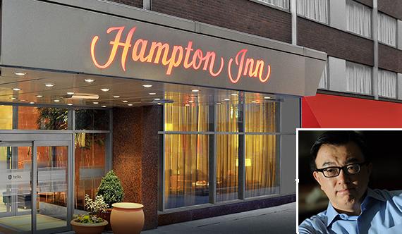 Hampton Inn Times Square (inset: Greg Peng)