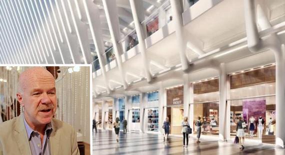 Rendering of World Trade Center Mall (inset: John Egan)(credit: Doubleshot)