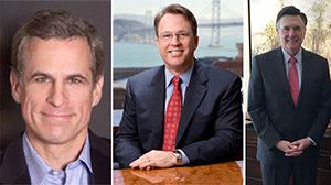 From left: Robert Kaplan, John Williams and Dennis Lockhart
