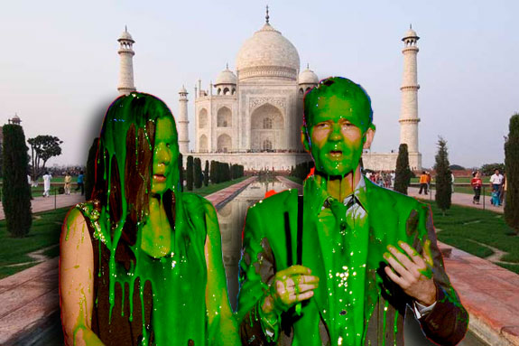 The Taj Mahal and guest being slimmed on Nick