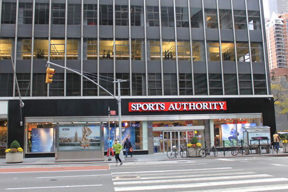 Sports Authority at 845 Third Avenue in Manhattan.