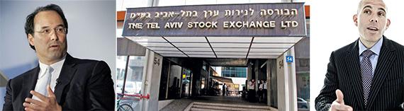 From left: Gary Barnett, Tel Aviv Stock Exchange and Scott Rechler