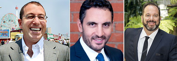 From left: Joseph Sitt, Mauricio Umansky, and Andrew Heiberger