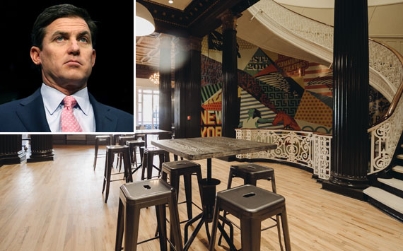 WeWork President Artie Minson and the company's Bryant Park office
