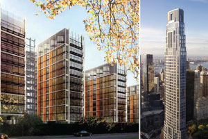 From left: One Hyde Park in London and 220 Central Park Sout in Manhattan
