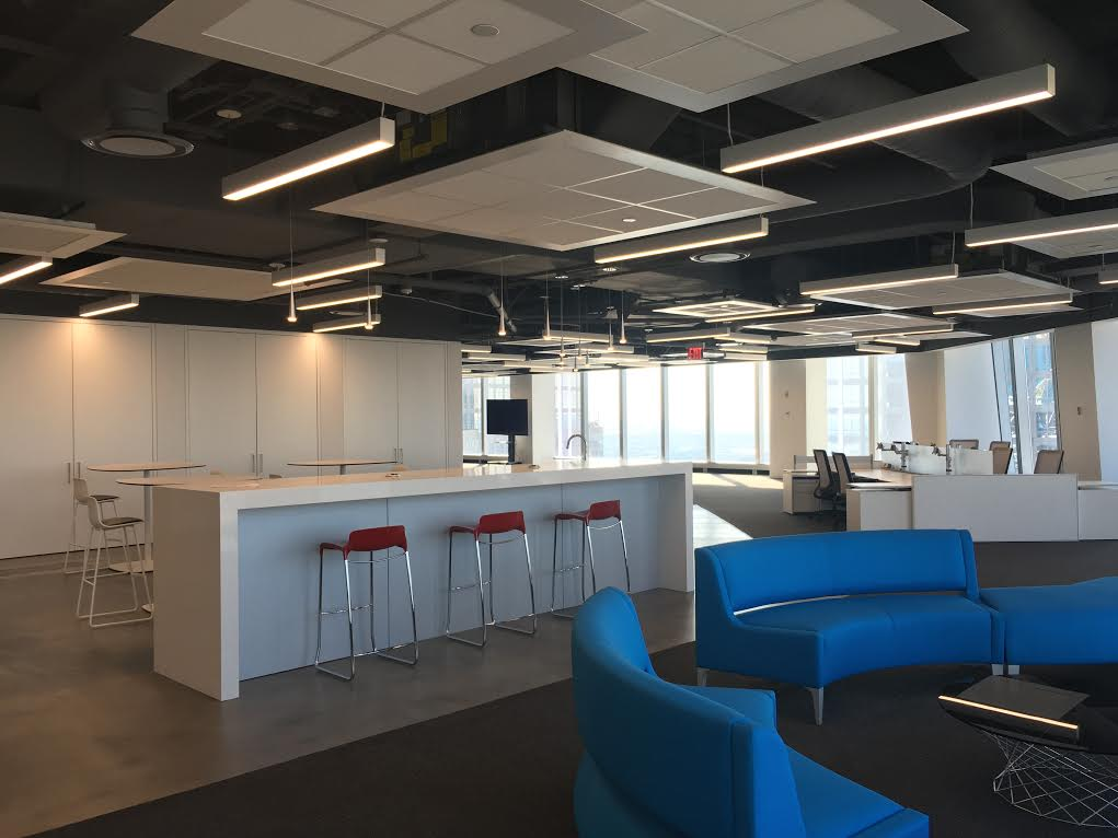 A new office concept geared towards millennials at 1 World Trade Center