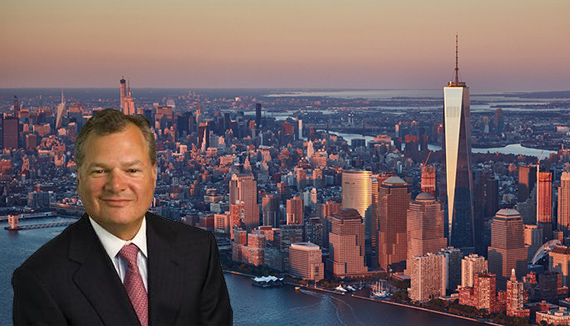 From left: Ameriprise CEO Scott Cracchiolo and One World Trade Center