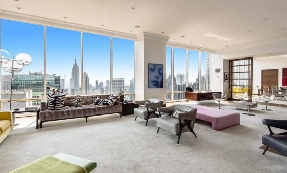 Guccis' duplex penthouse on the 50th and 51st floors of the Olympic Tower