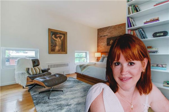 Molly Ringwald (photo credit: Panio Gianopoulos via wikipedia) and her apartment