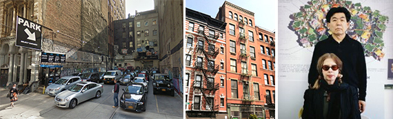 4 East 20th Street in Flatiron, 124 West Houston Street in Greenwich Village and artists Shusaku Arakawa and Madeline Gins