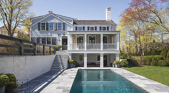 A $10.5 million listing at 42 Howard Street in Sag Harbor being marketed by Saunders & Associates