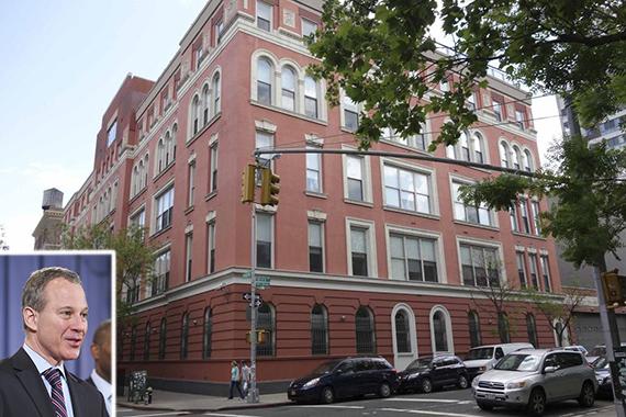 45 Rivington Street on the Lower East Side (inset: Eric Schneiderman)