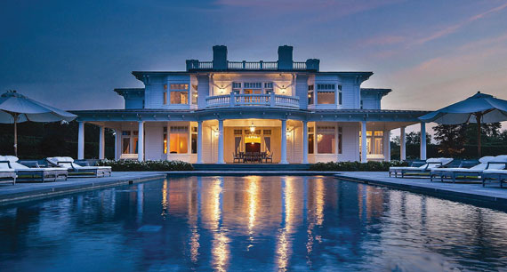 A $45 million listing at 315 Rose Hill Road in Watermill being marketed by Douglas Elliman