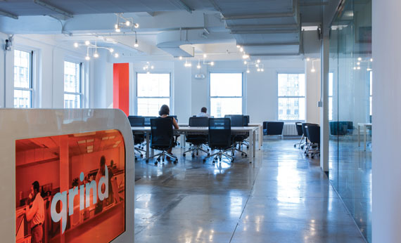 Co-working company Grind recently opened a fourth Manhattan location.