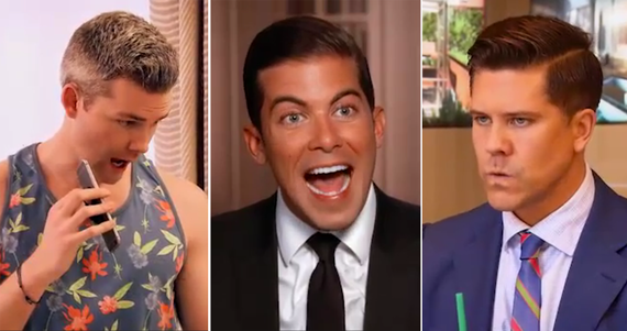 Ryan Serhant and his arms, Luis Ortiz and Fredrik Eklund