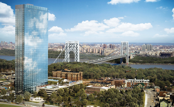 The Modern, a 47-story luxury residential tower next to the George Washington Bridge in Fort Lee