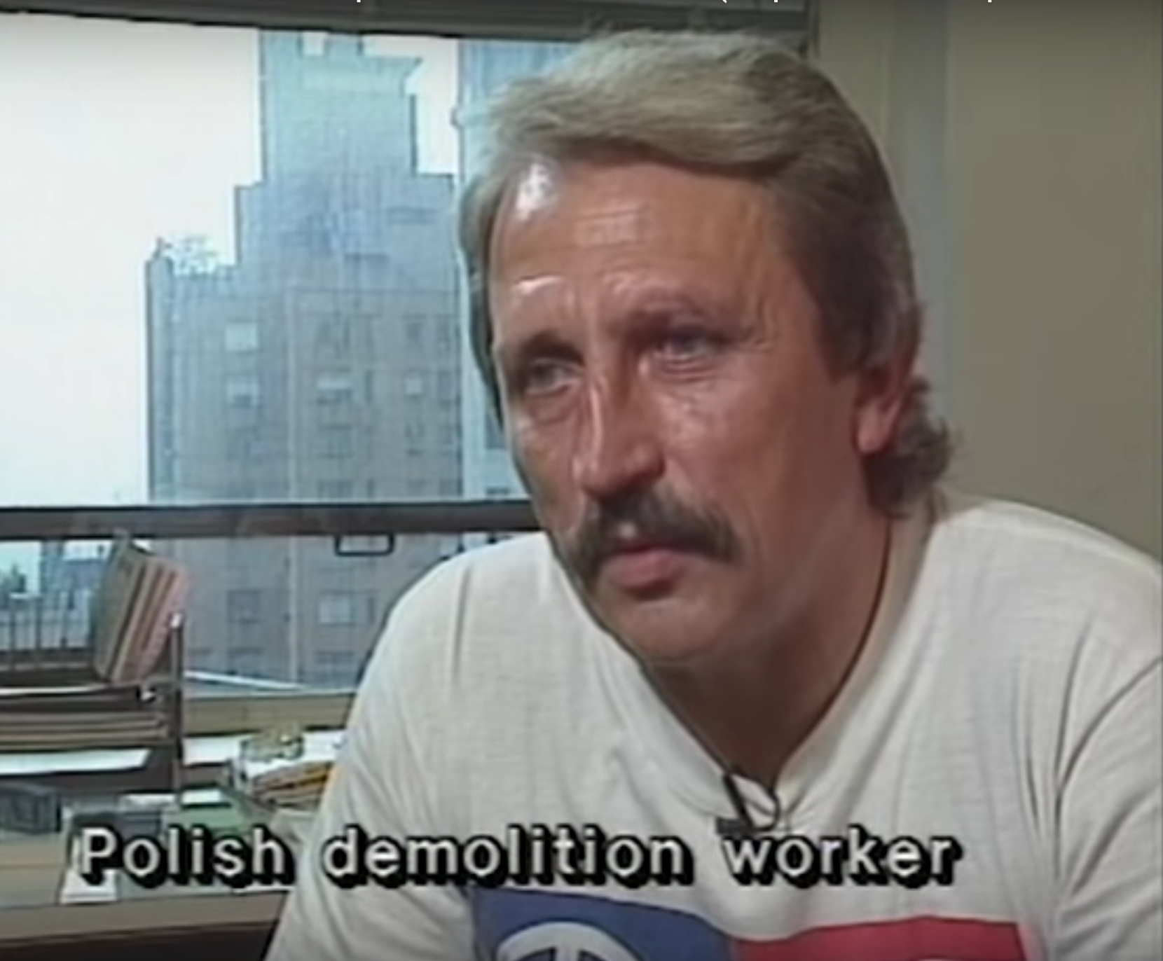 Polish demolition worker