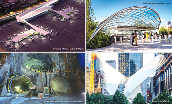 Skanska usa skanska construction projects oculus wtc clockwise from top left a rendering of the new laguardia airport the 7 train station at hudson yards the oculus at the wtc hub and tunnel construction malvernweather Choice Image