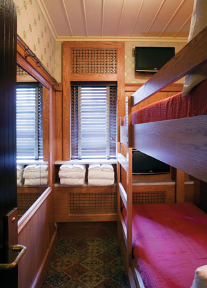 BD's Jane Hotel has 50-square-foot, yacht-cabin-themed rooms.