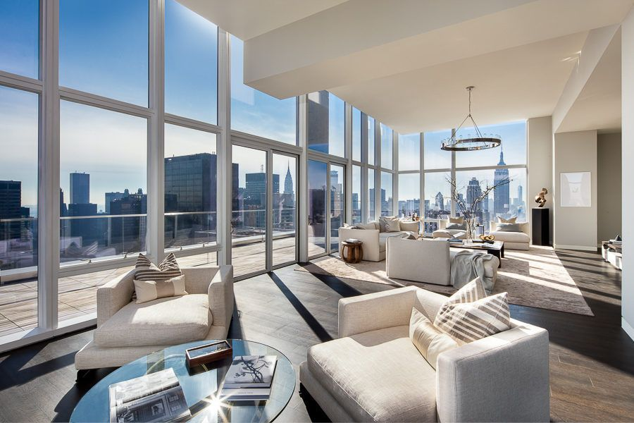 The penthouse apartment at the Baccarat Residences