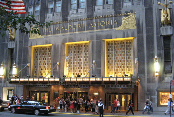 The Waldorf Astoria hotel