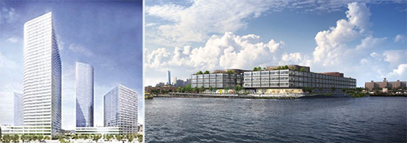 From left: 28-10 Jackson Avenue in Long Island City and 270 RIchards Streets in