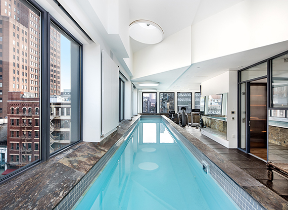 The Top Floor Lap Pool At ...