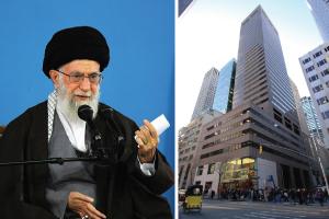 650 Fifth Avenue in Midtown and Supreme Leader of Iran Ayatollah Khamenei