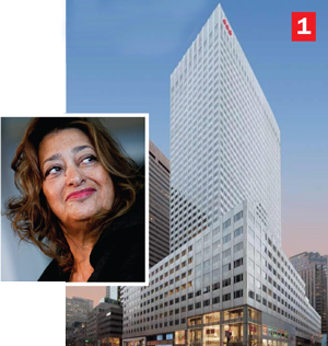 666 Fifth Ave., Inset: Zaha Hadid
