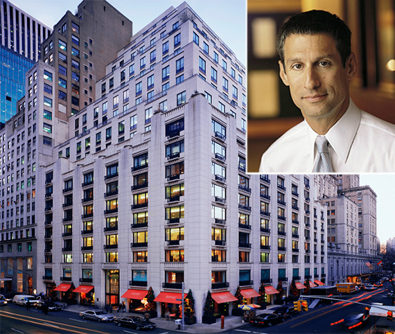 660 Madison Avenue and Richard Perry (inset)