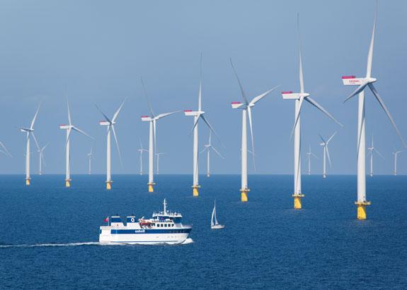 An off shore wind farm