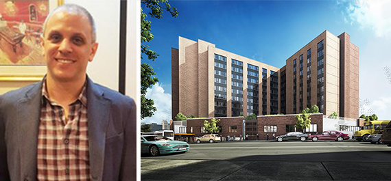 Rendering of 1880 Boston Road in the West Bronx and Jeff Fox