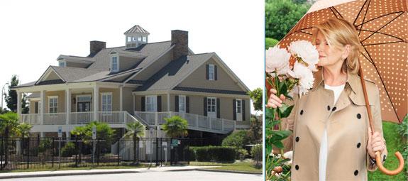 A Martha Stewart-designed home and Martha Stewart (image credit: Terry Richardson)