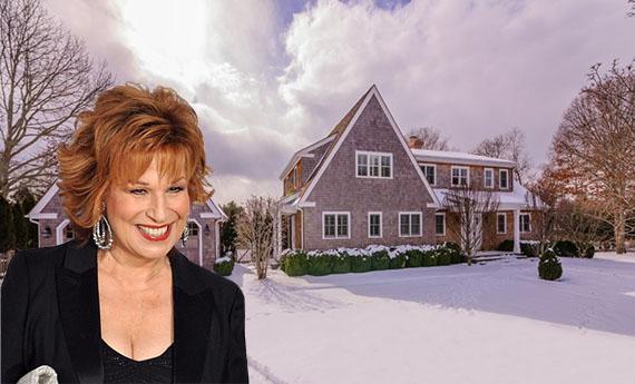 Joy Behar and her East Hampton home at 15 Roberts Lane