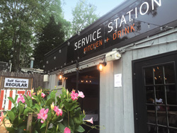 Service Station opened in a former roadside gas station in East Hampton village in June 2016.