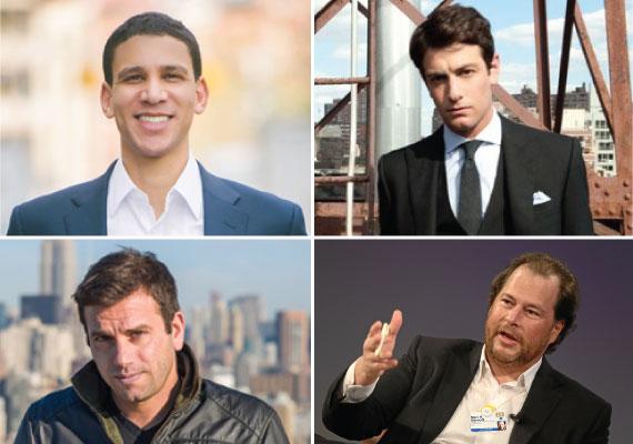 From clockwise: Rob Reffkin, Joshua Kushner, Ori Allon and Marc Benioff