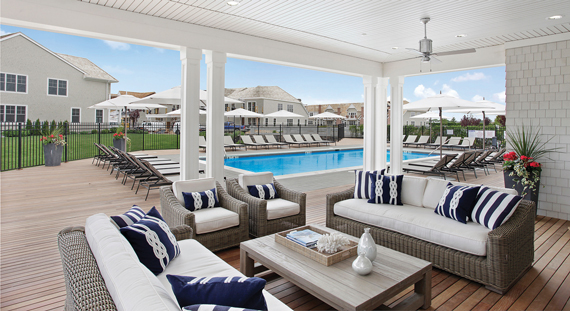 The clubhouse at Bishops Pond Southhampton Village