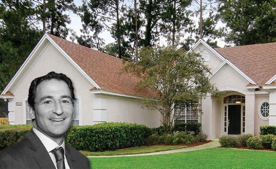 A single family home (inset: Blackstone's Jonathan Gray)