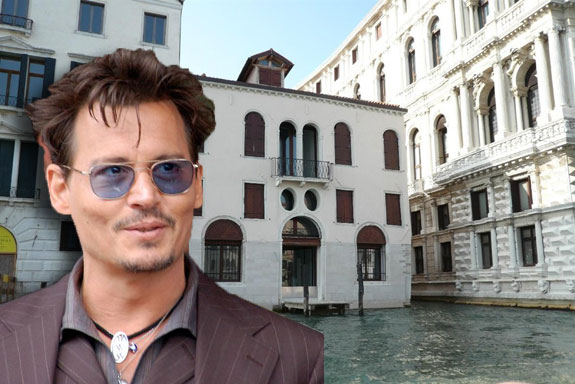 Palazzo Dona Sangiantoffetti and Johnny Depp (photo credit: Angela George via Wikicommons)