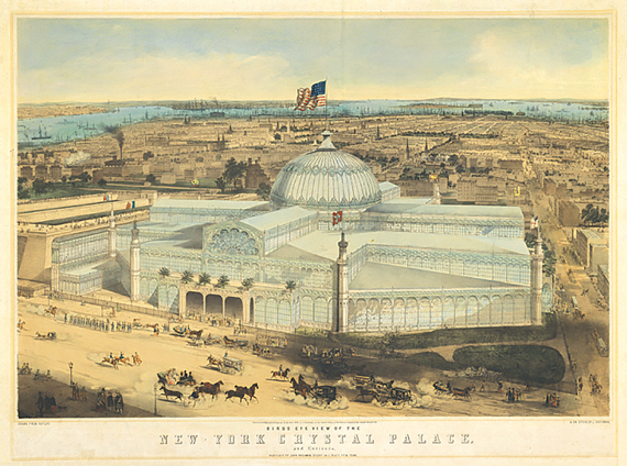 A print depicting the Crystal Palace.