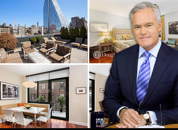 Scott Pelley and 50 West 15th Street (photo credit: CBS News via Wiki Commons)