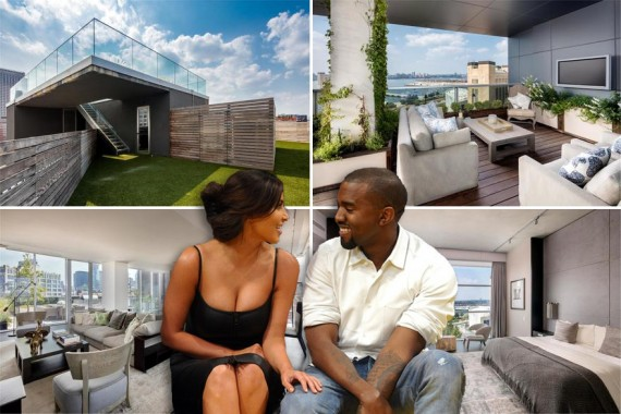 Kim Kardashian, Kanye West and the penthouse at 471 Washington Street in Tribeca