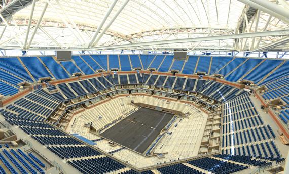 Arthur Ashe Stadium interior